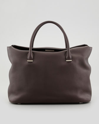 The Carry All Leather Tote Bag, Walnut