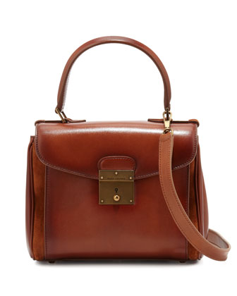 Grand Metropolitan Waxed Mini Satchel Bag, Luggage