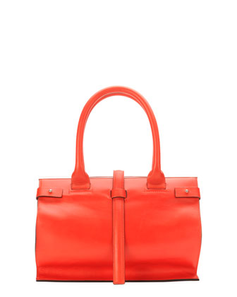 Parigi Framed Shopper Tote Bag, Red