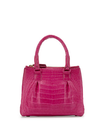 Open-Top Satchel Crossbody Bag, Pink