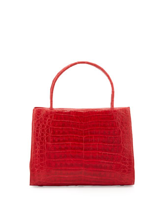 Crocodile Mini Tote Bag, Red