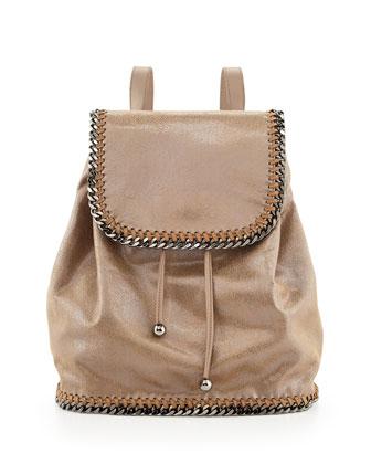 Falabella Drawstring Backpack, Beige