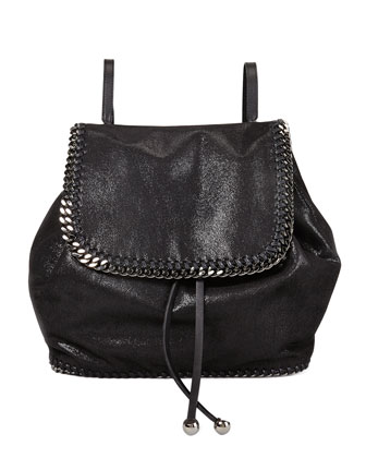Falabella Shaggy Deer Backpack, Black