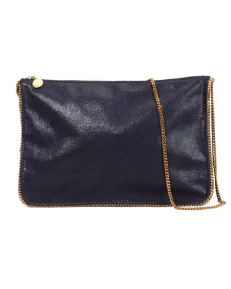 Mini Chain Shoulder Bag, Navy