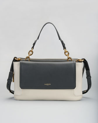 Beyond Bicolor Satchel, White/Black