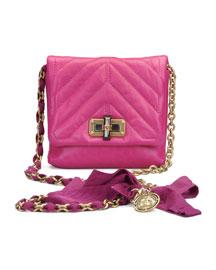 Classic Happy Crossbody Bag, Fuchsia