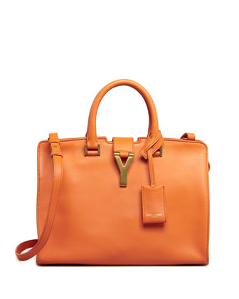 Y-Ligne Cabas Mini Leather Bag, Orange