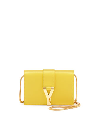 Y Ligne Mini Pochette Crossbody Bag, Yellow
