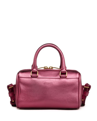 Metallic Duffel Toy Saint Laurent Bag, Pink