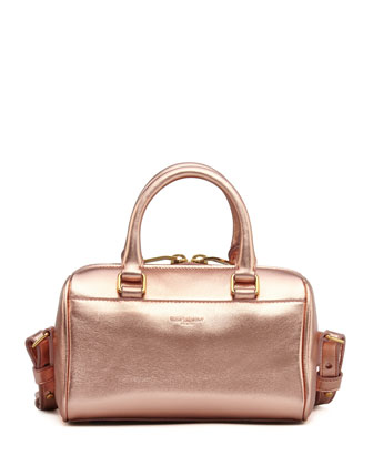 Metallic Duffel Toy Saint Laurent Bag, Rose Gold
