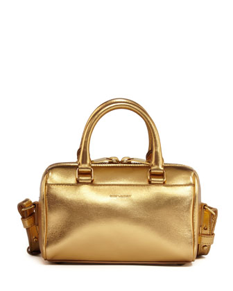 Metallic Duffel Toy Saint Laurent Bag, Gold