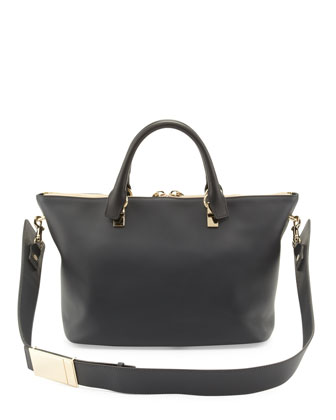 Baylee Medium Shoulder Bag, Black/Gray