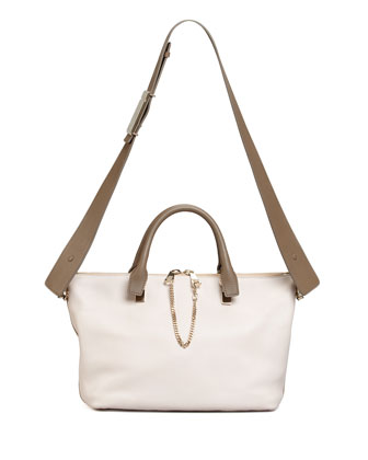 Baylee Shoulder Bag, White/Beige