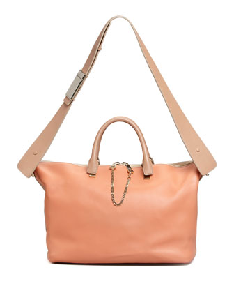 Baylee Medium Shoulder Bag, Light Red/Brown