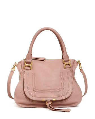 Marcie Medium Satchel, Pink