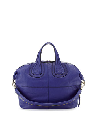Nightingale Zanzi Medium Satchel Bag, Blue
