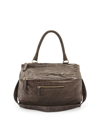 Pandora Medium Pepe Satchel Bag, Gray