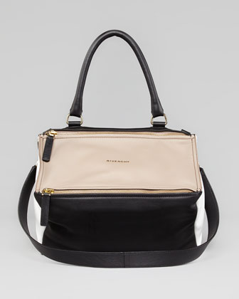 Pandora Small Tricolor Satchel Bag, Multi
