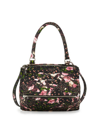 Pandora Small Flower Camo Satchel Bag
