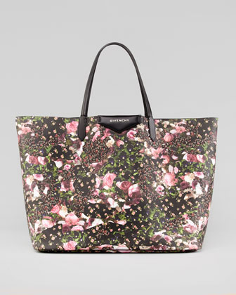 Antigona Large Floral-Print Shopper Bag