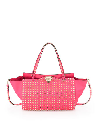 Rockstud All Over Tote Bag, Pink
