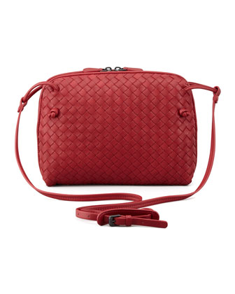 Veneta Small Crossbody Bag, Red