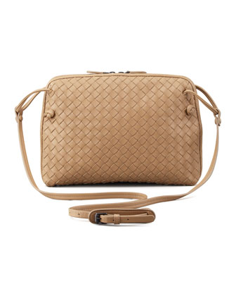 Veneta Small Crossbody Bag, Walnut