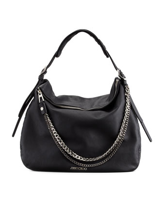 Boho Biker Hobo Bag, Black