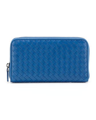 Continental Zip-Around Wallet, Blue