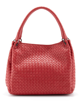 Parachute Intrecciato Shoulder Tote Bag, Red