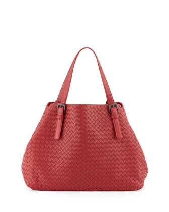 Veneta A-Shape Large Tote Bag, Red