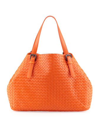 Veneta A-Shape Large Tote Bag, Tangerine