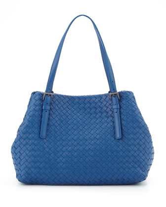 Veneta A-Shape Medium Tote Bag, Blue