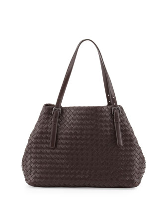 A-Shaped Medium Tote Bag, Dark Brown