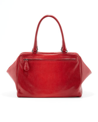 Brera Degrade Satchel Bag, Red