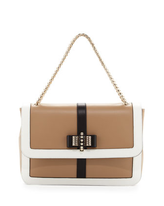 Sweet Charity Large Shoulder Bag, Beige/White