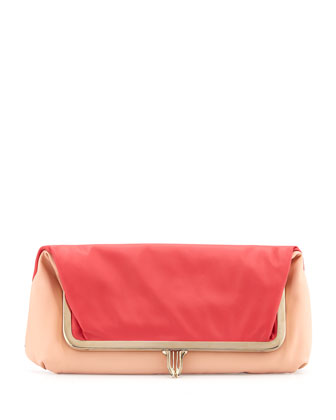 Fold-Over Shoulder Bag and Clutch