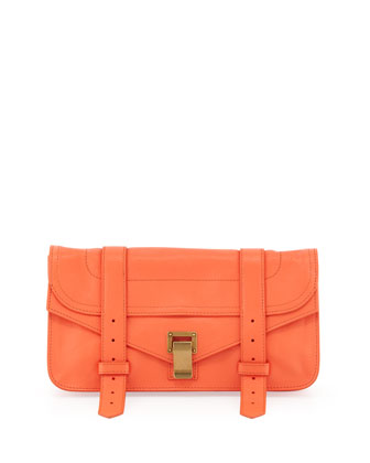 PS1 Pouchette Lambskin Clutch Bag, Grapefruit