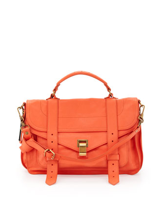 PS1 Medium Satchel Bag, Grapefruit