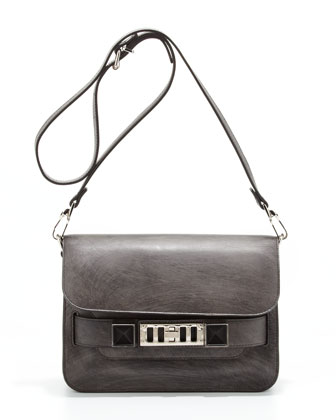 PS11 Mini Chalkboard Shoulder Bag, Dark Gray