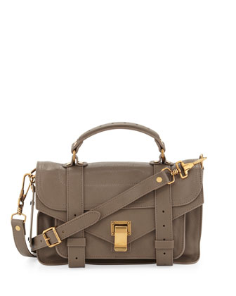 PS1 Mini Satchel Bag, Smoke