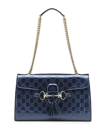 Emily Shine Guccissima Shoulder Bag, Blue
