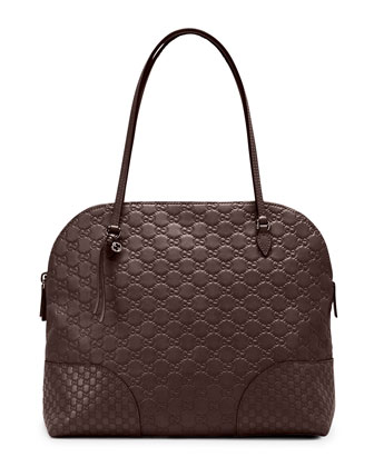 Bree Guccissima Satchel Bag, Dark Brown