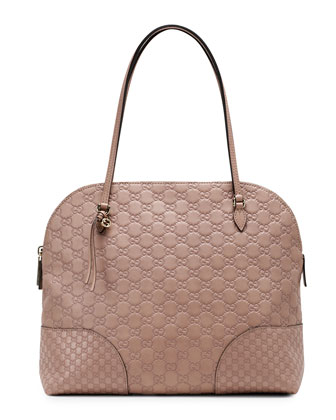 Bree Guccissima Satchel Bag, Tan/Nude