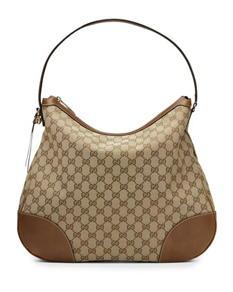 Bree Original GG Canvas Hobo Bag, Tan/Brown