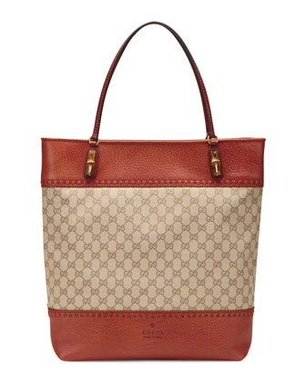 Laid-Back Crafty Original GG Canvas Tote Bag, Burnt Orange