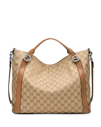 Miss GG Original Canvas Top Handle Bag, Tan/Camel