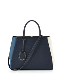 2Jours Colorblock Leather Tote Bag, Multi