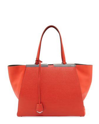 Trois Jour Shopping Grande Tote, Red Orange