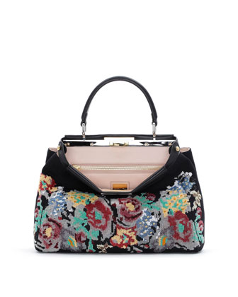 Peekaboo Medium Floral Tote Bag